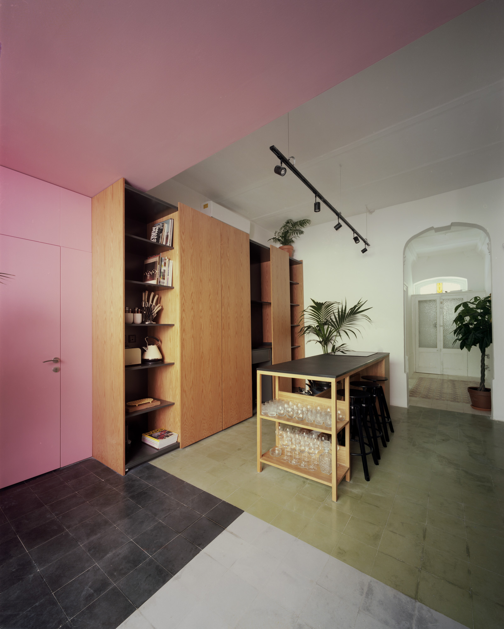 Lorry by Valentino Architects kitchen view